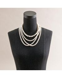 J.Crew - White Four-Strand Pearl Necklace - Lyst