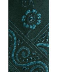 Burberry | Blue Floral Wool Silk Tie for Men | Lyst