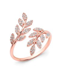 Anne Sisteron - Metallic 14kt Rose Gold Diamond Branch Ring - Lyst