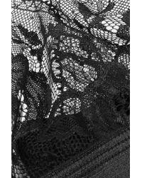 Hanky Panky | Black High Shine Stretch-lace Soft-cup Bra | Lyst