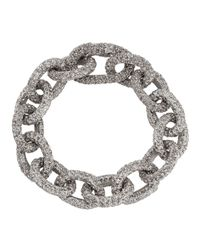Lisa Freede - Metallic Nikki Glitter Link Bracelet - Lyst