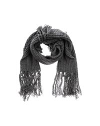 CoSTUME NATIONAL - Gray Oblong Scarf - Lyst