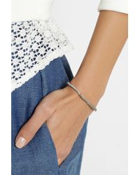 Brooke Gregson - Metallic Silver Diamond Bracelet - Lyst