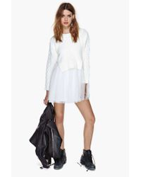 Nasty Gal - Natural Unif Chloe Sweater Dress - Lyst