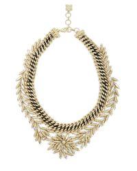 BCBGMAXAZRIA | Metallic Copper Woven Leaf Necklace | Lyst