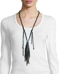 Johnny Was | Black Delia Long Necklace W/ Tassel | Lyst