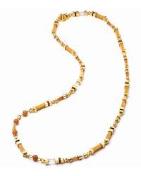 Eddie Borgo - Metallic Plinth Mixed-stone Long Necklace - Lyst