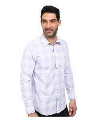 Calvin Klein - Purple Plaid Cool Tech Woven Shirt for Men - Lyst