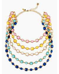 kate spade new york - Multicolor Coated Confetti Bib Necklace - Lyst