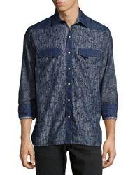 Robert Graham - Blue Bryant Woven Long-Sleeve Sport Shirt for Men - Lyst