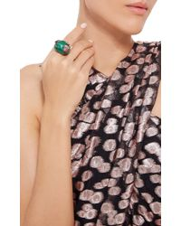 Wendy Yue - Green Malachite Snake And Apple Ring - Lyst