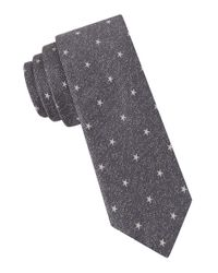 John Varvatos | Gray Nattie Star Silk Tie for Men | Lyst