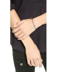 Shashi | Blue 'lilu' Stretch Bead Bracelet - Cobalt | Lyst