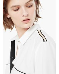 Mango - White Welt Pocket Shirt - Lyst