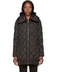 Moncler - Black Down Crozant Coat - Lyst