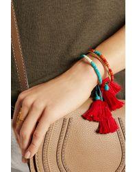 Aurelie Bidermann - Red Sioux Coral, Bamboo & Gold-Plated Cuff - Lyst