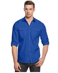 INC International Concepts | Blue Big And Tall Owen Long Sleeve Shirt for Men | Lyst