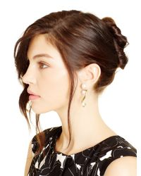 Oscar de la Renta - Metallic Light Gold Octopus Pearl Earrings - Lyst