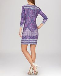 BCBGMAXAZRIA - Purple Dress - Calico Printed Shift - Lyst