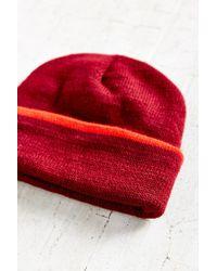 BDG - Red Cuffed Rib-knit Beanie - Lyst
