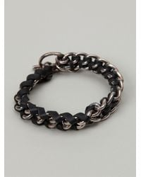 Tobias Wistisen | Black Chain Bracelet for Men | Lyst