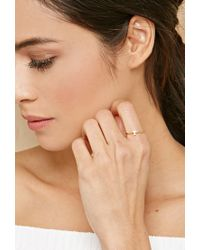 Forever 21 | Metallic Cool And Interesting T Initial Ring | Lyst