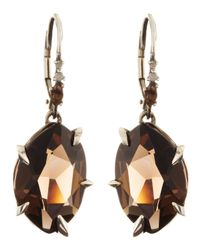 Alexis Bittar - Brown Midnight Marquise Smoky Quartz Earrings with Diamonds - Lyst