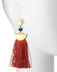 Lizzie Fortunato - Orange Mount Sage Tassel Earrings - Lyst