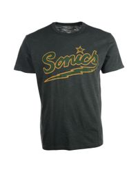 47 Brand - Gray Mens Seattle Supersonics Wordmark Scrum Tshirt for Men - Lyst
