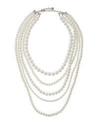R.j. Graziano - White Multi-strand Pearly Necklace - Lyst