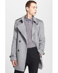 Burberry - Black 'britton' Double Breasted Trench Coat for Men - Lyst