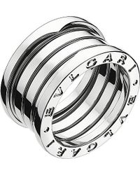 BVLGARI | Gray B.zero1 Four-band Stainless Steel Ring | Lyst