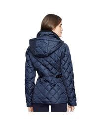 Ralph Lauren - Blue Detachable-hood Down Coat - Lyst