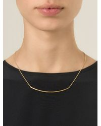 Isabel Marant - Metallic Geometric Line Necklace - Lyst