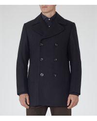 Reiss - Blue Sonnie Wool-rich Peacoat for Men - Lyst
