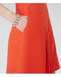 Reiss - Natural Bella High-Shine Leather Bracelet - Lyst