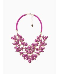 Violeta by Mango | Purple Appliqué Choker | Lyst