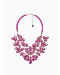 Violeta by Mango - Purple Appliqué Choker - Lyst