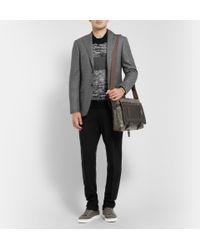 Bottega Veneta | Metallic Intrecciato Leather and Sterling Silver Cuff for Men | Lyst