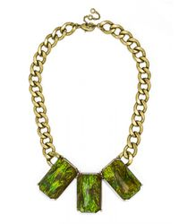 BaubleBar | Green Triple Bling Collar | Lyst