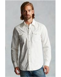 True Religion | White Western Mens Shirt for Men | Lyst