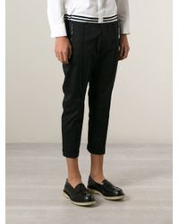 DSquared² - Black Cropped Trousers for Men - Lyst