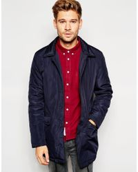 Native Youth - Blue Padded Mac for Men - Lyst