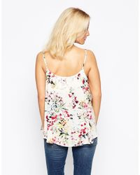 Minimum - Floral Vest Top - 004 Broken White - Lyst