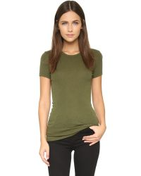 Three Dots | Green Crew Neck Tee | Lyst