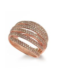 Effy | Metallic Diamond And 14k Rose Gold Ring, 1.05 Tcw | Lyst