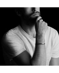 David Yurman | Black Royal Cord Narrow Cuff Bracelet for Men | Lyst