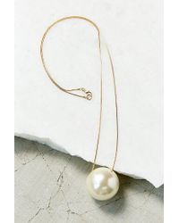 Urban Outfitters | White Large Pearl Pendant Necklace | Lyst