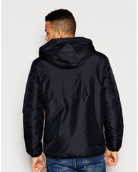 Jack & Jones | Black Hooded Coat for Men | Lyst