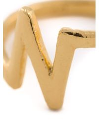 Bjorg | Metallic 'n Alphabet Ring' | Lyst